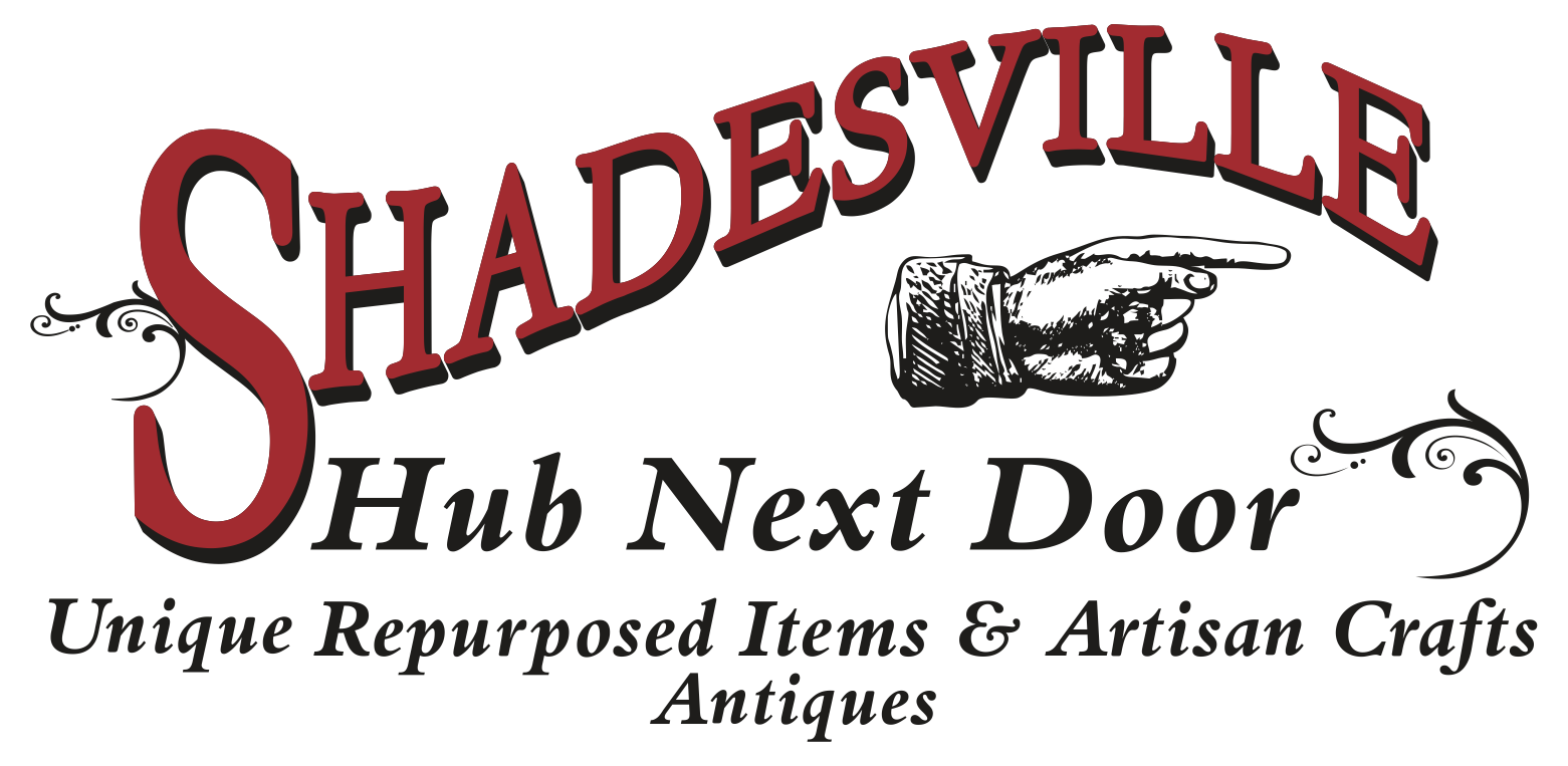 Shadesville is an inside market type store for vendors, that make handcrafted, repurposed, unique, one-of-kind items, and we have a few antiques too!